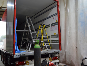 New Schmitz Mega-box Trailers Get The TRUCKINGBY Extras Fitted Before They Go Out On Tour