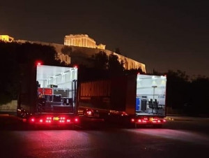 TRUCKINGBY Take Florence & The Machine To The Acropolis, Athens