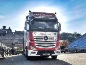 TRUCKINGBY Are Proud To Help On The Production Of The Military Tattoo