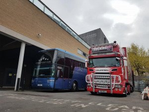 TRUCKINGBY Driver Jb Looks After J Hus's Cars Whilst On Tour